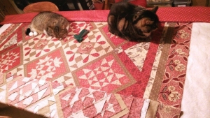Quilt sandwich Day In Giverny