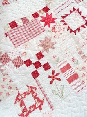 rood wit quilt